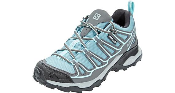 Salomon X Ultra Prime CS WP Hiking Shoes Women Artic/Magnet/Aruba Blue